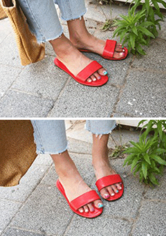 Single Tone Flat Slip-On Slippers