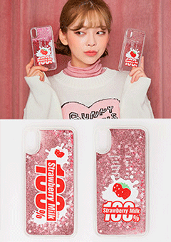 Strawberry Milk. Strawberry 100 Phone Case