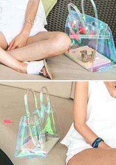 Holographic Transparent Handbag
