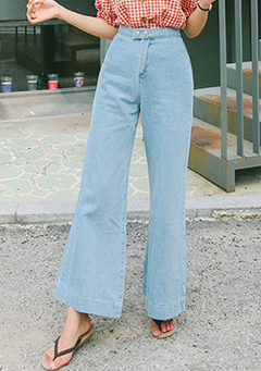 Loose High-Rise Flare Jeans