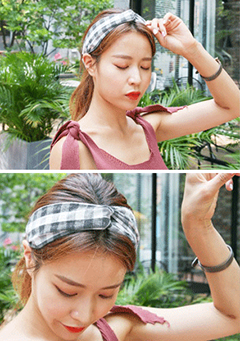 Check Pattern Headband