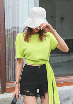 Frayed Solid Tone Bucket Hat