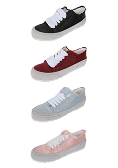 Frayed Two-Toned Lace-Up Sneakers