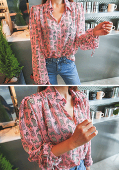 Monster Print Blouse