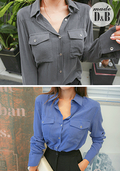 Two-Pocket Button-Down Shirt