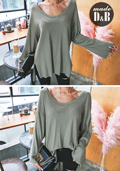 Oversized Twist Accent T-Shirt