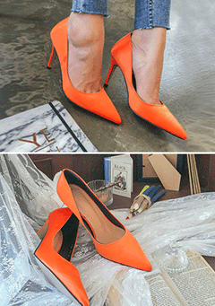 Color Block Pointed Heels