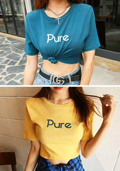 PURE Printed Cropped Top