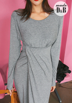 Extended Sleeve Twist Accent Dress