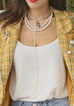Faux Pearl Drop Necklace
