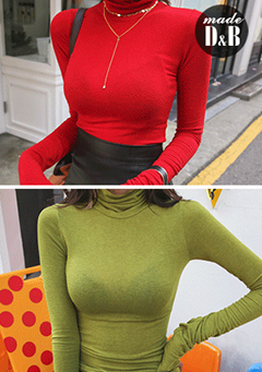 Extended Sleeve Turtleneck Knit Top