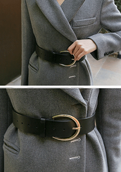 Wide Buckled Belt