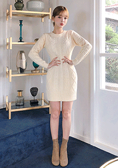 Smooth Basic Knit Dress