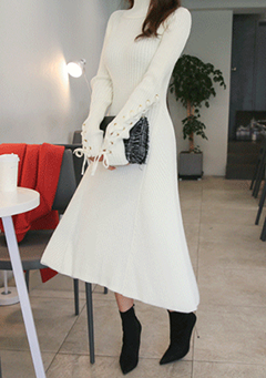 Twirl For You Knit Midi Dress