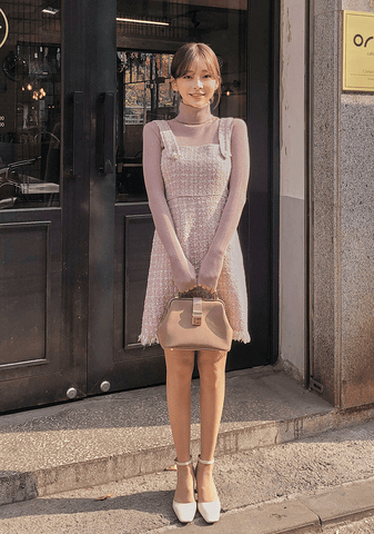 Better Off Alone Tweed Dress