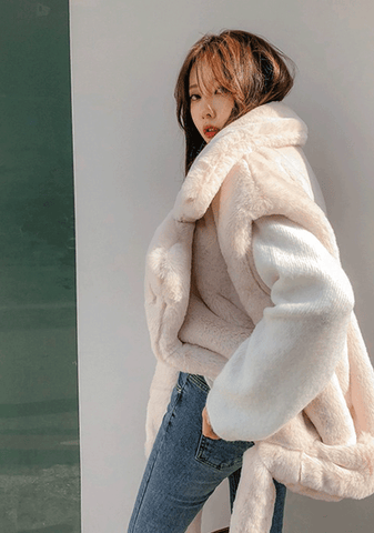 Greedy For Love Faux-Fur Jacket