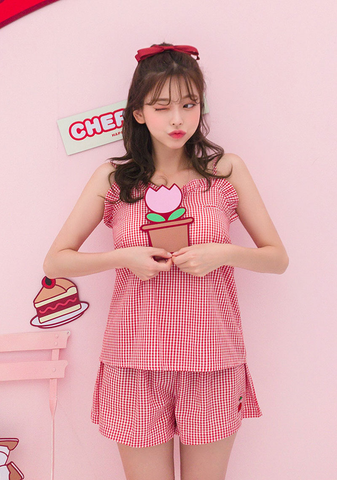 Cherry Pie. Leegong Cherry On Top Pajamas Set