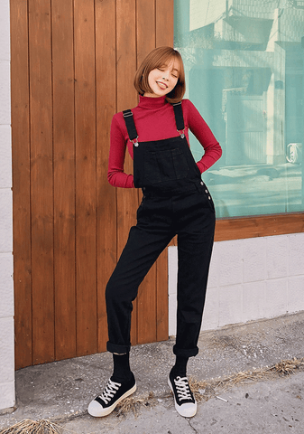 Secret Code Basic Overall Pants