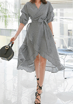 What To Do Check Wrap Dress
