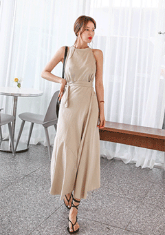 Sleeveless Top And Wrap Skirt Set
