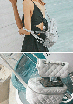 Transparent Quilted Bag