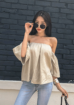 Solid Tone Off Shoulder Blouse