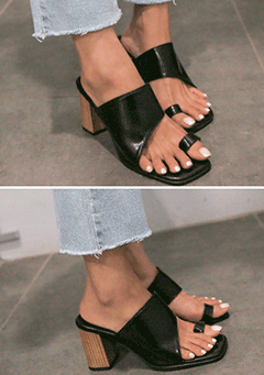 Modern Chunky Heeled Sandals
