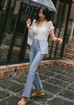 Clean Sheer Loose Fit Blazer