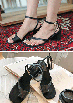 Simple Open Faux Leather Sandals