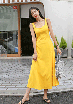 Tulip A-Line Slim Fit Sleeveless Dress