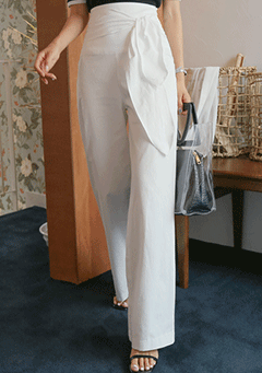 High Waist Straight Cut Wide Leg Pants