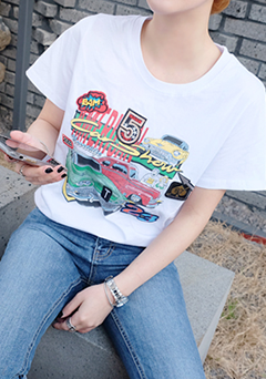 On The Road Print Tee