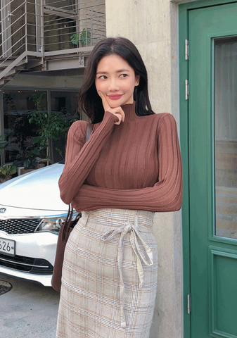 In The Best Way Knit Ribbed Top