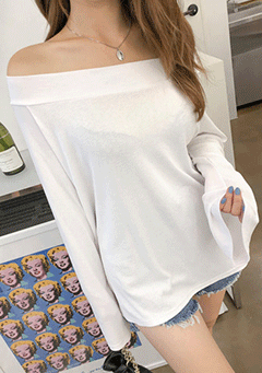 Quiet Power Off Shoulder Top