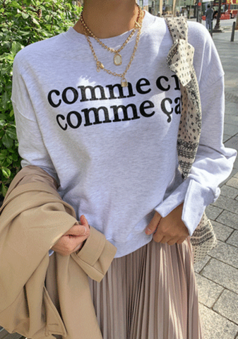 Comme Ci Comme Ca Printed Sweater