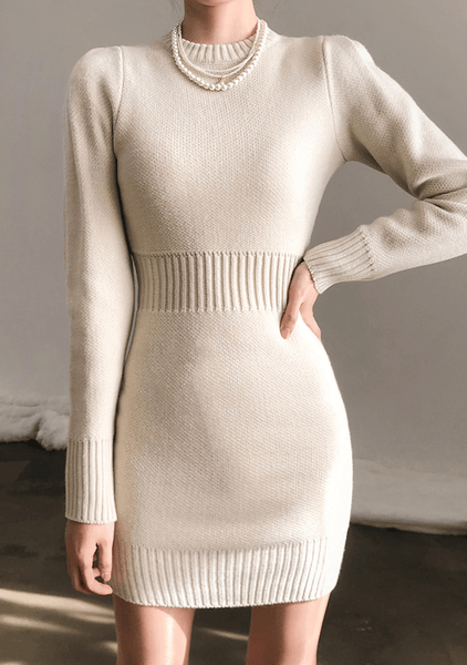 Little Puff Knit Dress