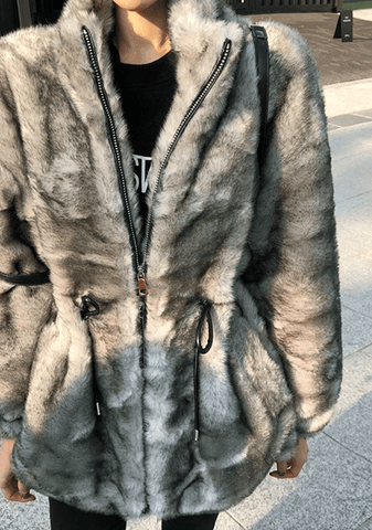 A Million Of Things Faux-Fur Jacket