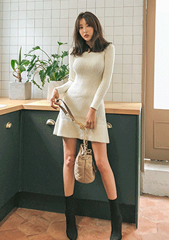 You And I Knit Ribbed Dress
