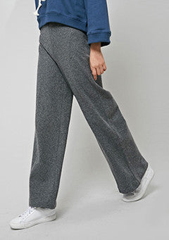 Wool Wide High Slacks