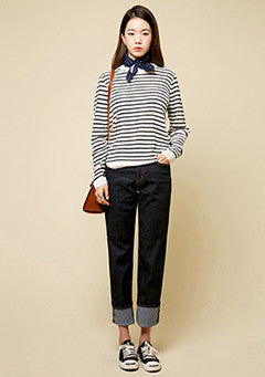 Normal Plane Stripe Knit