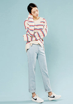Color Mix Stripe Knit