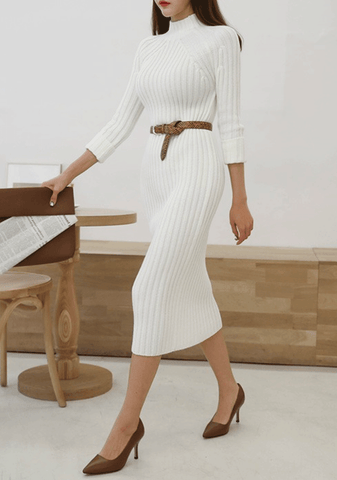 Only Kind Words Ribbed Knit Dress
