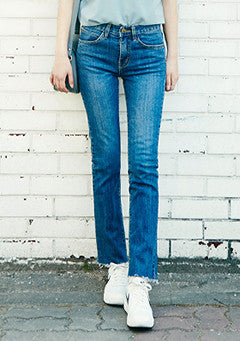 Raw Cut Straight Fit Jeans