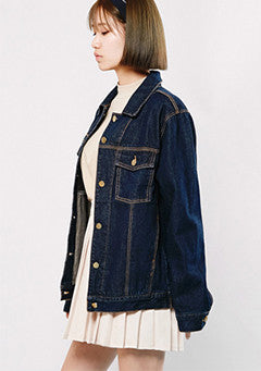 Yellow Stitch Indigo Denim Jacket