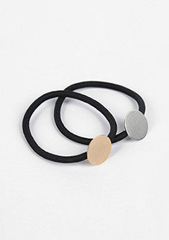 Circle Brass Hair Tie