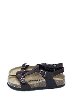 Buckle Leather Sandals
