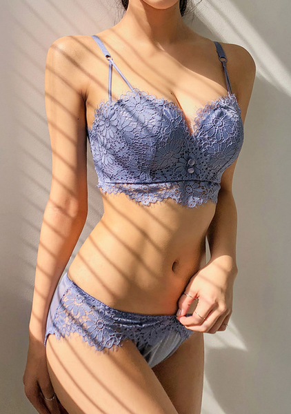Shlalala Volume Up Flower Bra+Pantie Set