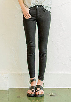 Cropped Stretchy Cotton Pants