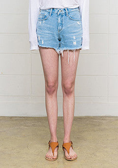 Wild Distressed Denim Shorts