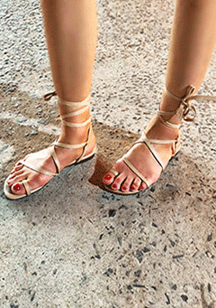 Ribbon Strappy Sandals